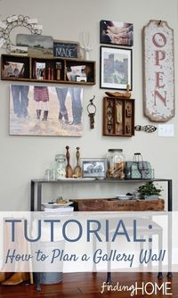 DIY: How to Plan a Gallery Wall - tutorial.