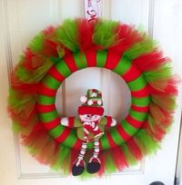 SALE Christmas Snowman Tulle Wreath by JoiedeVivreCrafts on Etsy, $24.00