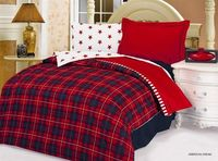 LeVele American Dream Twin 4 Pc. Duvet Cover Set - patriotic look in soft Turkish cotton. #boysbedding #duvets