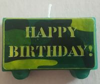 Camouflage Happy Birthday Candle... just $1.98