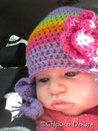 Quick Crochet 3 to 6 month old Baby Beanie: free pattern
