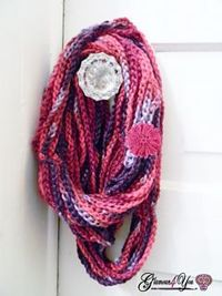 Free Pattern This Necklace Scarf is very easy & fast. You can whip up this scarf in just hours; great for a last minute gift or a personal fashion statement. This Scarf would also be perfect to make using Specialty yarn, since it showcases the yarn it...