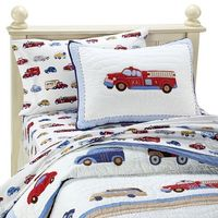 """Whistle & Wink�""""� Cars and Trucks Quilt and Accessories"""