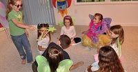 A remake of Duck, Duck, Goose... They played Fairy, Fairy, Tinkerbell. This link has some adorable Tink party ideas, but most could be used for any fairy party.