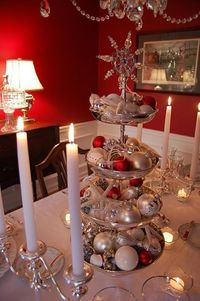 Candlelight Setting with Tiered Centerpiece