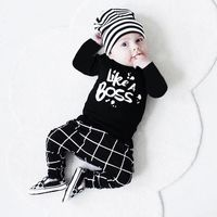 Price: $21.85 | Product: Toddler Baby Boy Outfit Lettering Printed Long Sleeve T-shirt Tops+ Pants Set | Visit our online store https://ladiesgents.ca