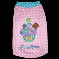 Fifi & Romeo Limited Edition Cupcake Cotton Crew Top - Pink