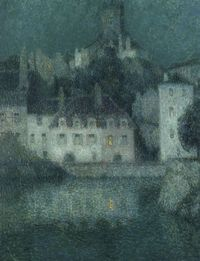Henri Le Sidaner - White houses at Quimperle - 1919 - Category:Henri Le Sidaner - Wikimedia Commons