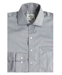 Light Grey Chambray Regular Fit Giza Cotton Shirt �'�1499.00