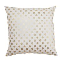 Caitlin Wilson Textiles: Gold Polka Dot Pillow | See more about gold polka dots, pillows and gold dots.
