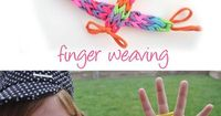 Finger weaving is fun ! This is a great boredom buster, travel-friendly craft -- make your own bracelet, necklace, belt ...just using your fingers ! It's g