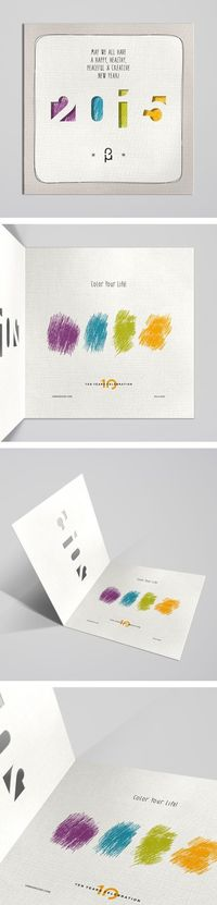 Christmas & New Year Greeting Cards by Vasilis Magoulas, via Behance / #2015 #newyear #xmas #greeting-card