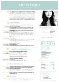 creative CV Curriculum vitea Lebenslauf graphic design portfolio