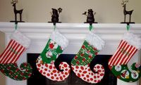 FOUR Whimsical Dr Seuss GRINCH red and by ShabbyChicChristmas, $120.00