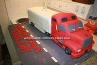 My son likes all forms of large trucks so I thought it would be a good idea to make him an 18 wheeler birthday cake for his birthday. I'm a big fan o...