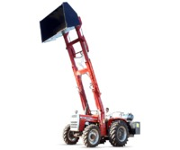 Telescopic loader and Unloader is ideal for loading and unloading biomass like Husk, Cotton etc. upto 17.5 feet from ground level.