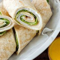 There's something so simplistic about a plain old turkey wrap dunked in homemade honey mustard