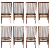 Original and Rare Set of Eight ''Structural'' Chairs by Joaquim Tenreiro 1