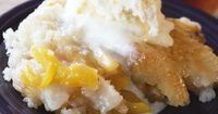 When's the last time you treated yourself to a homemade peach cobbler?