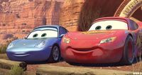Instead of making the cars' headlights the eyes in Cars, as is done on most cartoons, the Pixar artists decided to put the eyes up on the windshield, because that made the characters more expressive. This idea was largely influenced by the Disney ca...