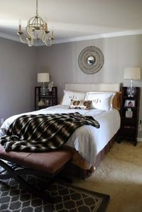 Another beautiful bedroom paint color, Valspar's 'Garden Stone'