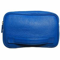 Grained Leather Dopp Kit Blue $172.00
