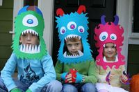 Felt monster crowns.