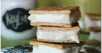 Key Lime Pie Ice Cream Sandwiches Ingredients 3 cups heavy whipping cream, separated 1/2 cup sugar 1 (14 oz) can sweetened condensed milk 3/4 cup Key Lime juice 1 Tbsp Lime zest approx 12 full graham crackers, broken in half to create 12 sandwiche...