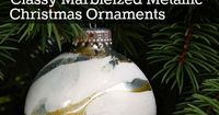 When you think of a handmade Christmas don't think folksy or country. Make your tree sparkle with classy marbleized metallic Christmas ornaments that you made and everyone will be in awe of. It's easy, quick, and they are all uniquely beautiful an...