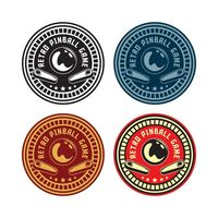 Set retro pinball game | Premium Vector. #Background #Logo #Banner #Business #Label #Card #Template #Badge #Sport #Stamp #Tag #Sticker #Graphic #Cafe #Sign #Company #Illustration #Ball #Emblem #Fun #Decorative #Games #Play #Symbol #Mug #Quality #Classic ...
