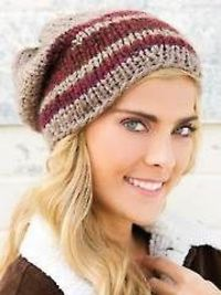 Gemini Hat Knit Pattern Download from AnniesCatalog.com. Order here: https://www.anniescatalog.com/detail.html?prod id=114267