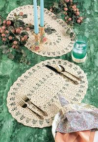 Table Setting free crochet pattern