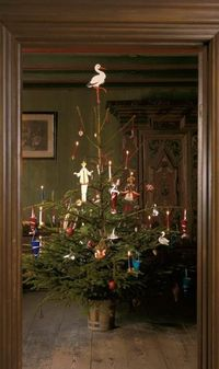 Danish Christmas tree as it would have been in the 1860's, Den Gamle By in Aarhus