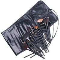 Professional Beauty Cosmetic Makeup Brushes 32pcs Set Knit with Pouch