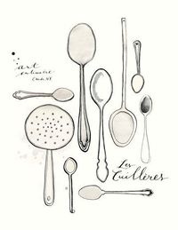 Les Cuilleres 8.5x11 Art culinaire Collection by evajuliet on Etsy