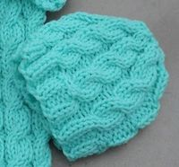 FREE - 12-15 inch cabled baby hat