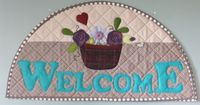 Hang this beautiful sign over a door or window and welcome all those who enter!