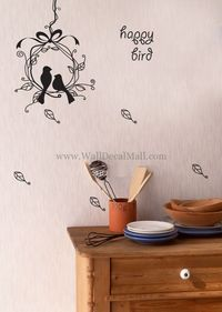 Happy Birds Nest Lover Wall Decals