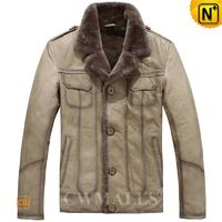 Custom Leather Jackets | Mens Shearling Leather Jacket CW890110 | CWMALLS.COM