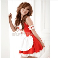Red Black lovely Female Maid classical Lace sexy miniskirt Sexy lingerie sexy underwear lolita maid outfit sexy cosplay costume $48.86 zhif.myshopify.com