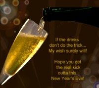 New year`s eve message