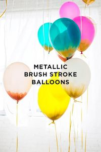 Awesome decoration idea for a party! Metallic brush stroke balloons from Design Love Fest.