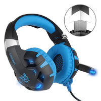 K2 3.5mm Gaming LED Light Headphone USB 7.1 Stereo Surround Sound Computer Headset Headband with Mic