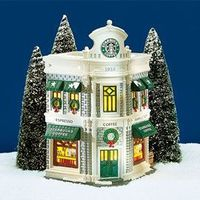 Dept 56 Snow Village Starbucks
