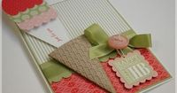 Cone is made with Petal Cone die and thenembossed with Square Lattice Embossing Folder. Ice Cream is madewith Petal Cone die ,1 3/4�€� Circle punch. Make the scoops using the1 3/4�€� Circle punch and the Scallop Edge Border punch. For thecherr...