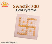 Swastik 700-Gold Pyramid  Swastik Gold 700 pyramids is 20 times more powerful than Pyra Vastu Swastik. It is used to improve the overall efficiency of your body, create environmental harmony, bring prosperity and harmony. https://astrologics.in/product...