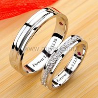 Gullei.com Matching Diamond Engagement Rings for Couples with Custom Engraving
