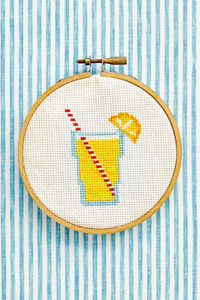 The article has some cool cross stitch, but this lemonade really caught my eye!