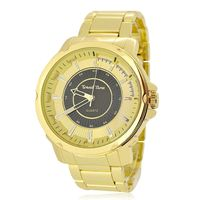 Men's Gold Plated Black & Gold Dial Decorated Watch £29.95