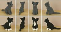 "AmiCats amigurumi cat crochet patterns by PlanetJune. ""Cats are one of my favourite animals, but one of the most difficult to depict realistically, and I didn't want to publish any cats until I was satisfied that I'd done justice to their ..."
